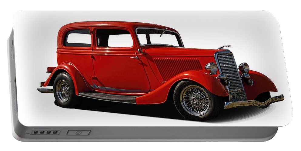1934 Portable Battery Charger featuring the photograph 1934 Ford 2 Door Sedan by Nick Gray