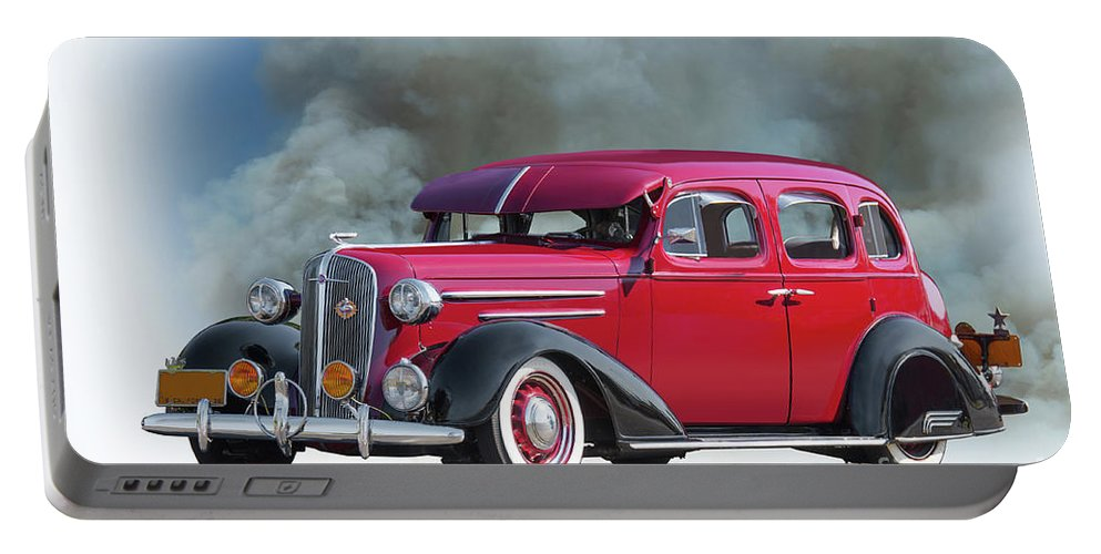 Automobile Portable Battery Charger featuring the photograph 1936 Chevrolet Master Deluxe Sedan by Dave Koontz