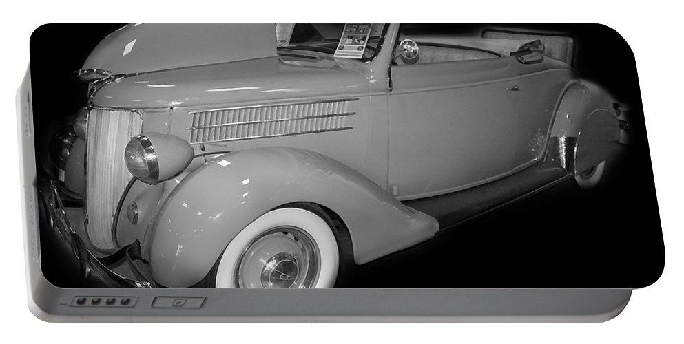 Ford Portable Battery Charger featuring the digital art 1936 Ford Rumble Seat Cabriolet by Tim Mulina