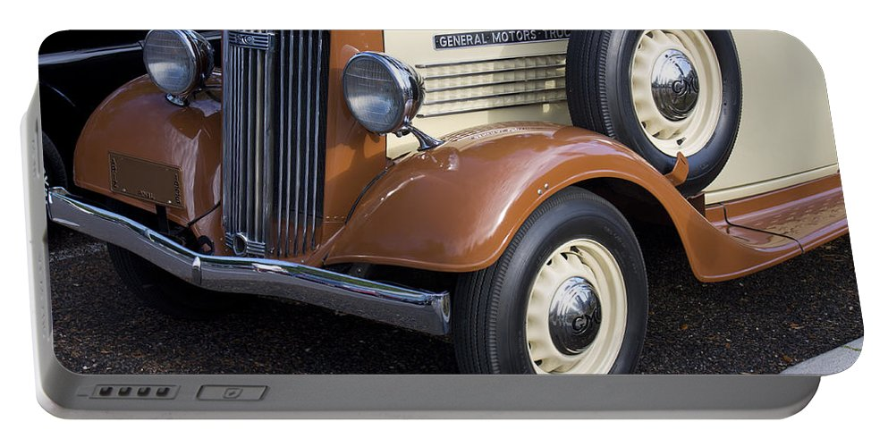 Grill Portable Battery Charger featuring the photograph 1936 Gmc Pickup Truck 1 by Robin Lewis