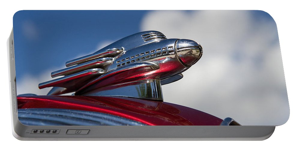1936 Portable Battery Charger featuring the photograph 1936 Hupmobile Hood Ornament by Nick Gray