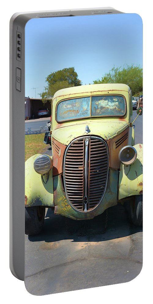 Transportation Portable Battery Charger featuring the photograph 1938 Ford Truck by Richard Jenkins