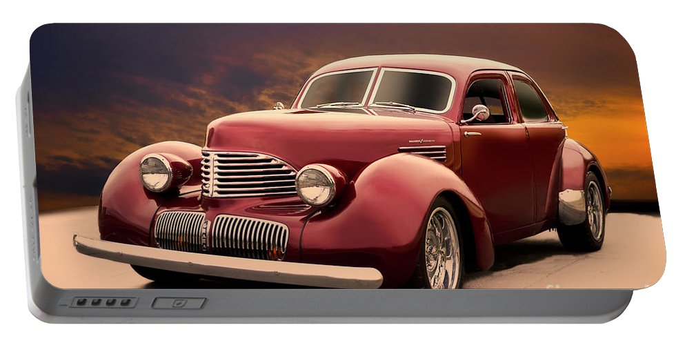 Auto Portable Battery Charger featuring the photograph 1941 Hollywood Graham Sedan I by Dave Koontz