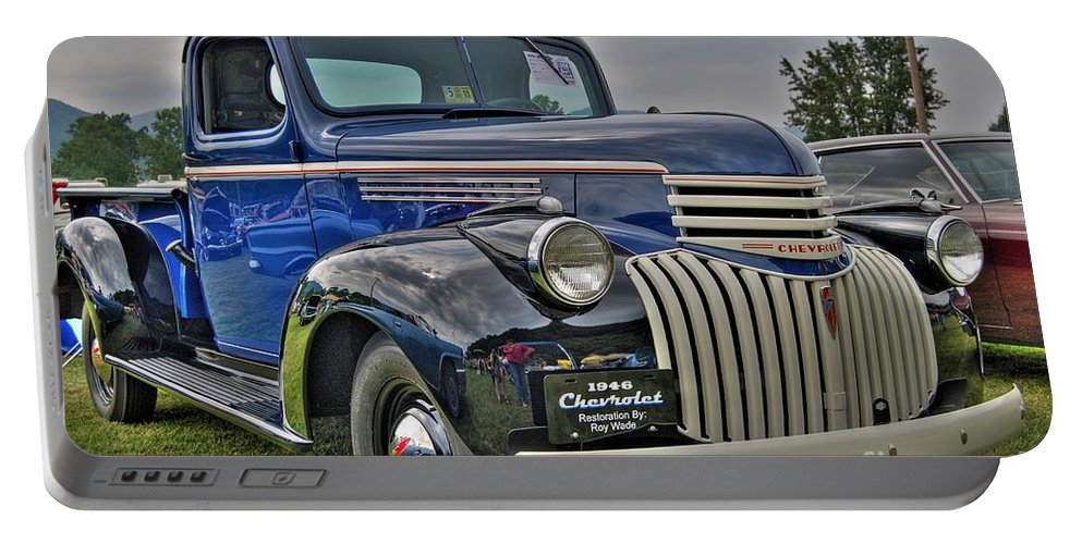 1946 Chevy Portable Battery Charger featuring the photograph 1946 Chevy by Todd Hostetter