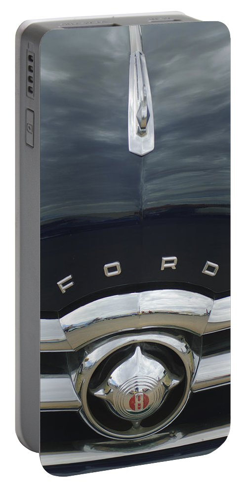 1949 Ford Portable Battery Charger featuring the photograph 1949 Ford Hood Ornament 4 by Jill Reger