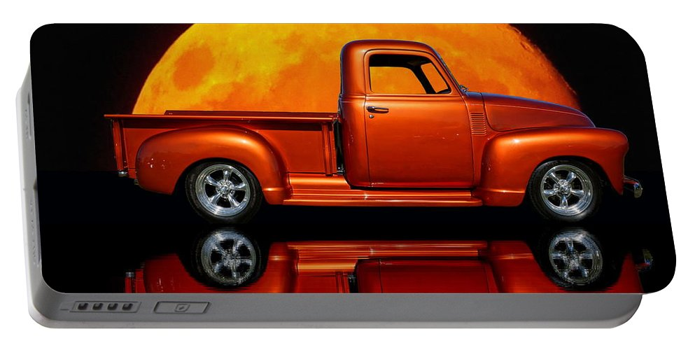 Reflection Portable Battery Charger featuring the photograph 1950 Chevy Pickup Poster by Alan Hutchins