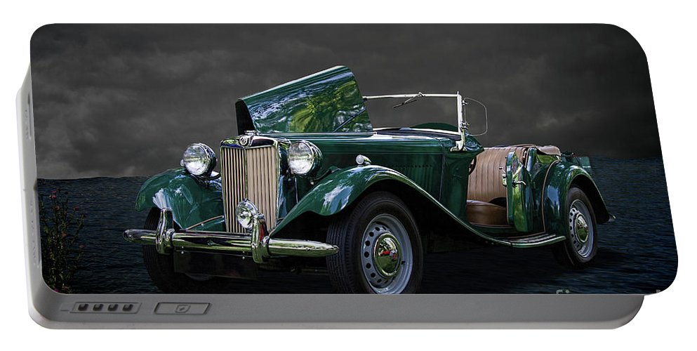 1952 Portable Battery Charger featuring the photograph 1952 Mg Td Roadster by Nick Gray