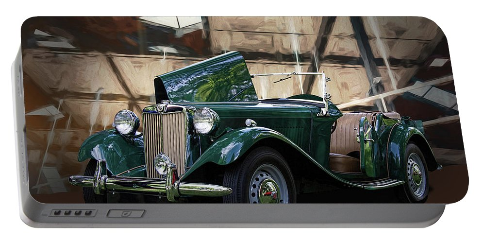 1952 Portable Battery Charger featuring the photograph 1952 Mg Td Roadster Sports Car by Nick Gray