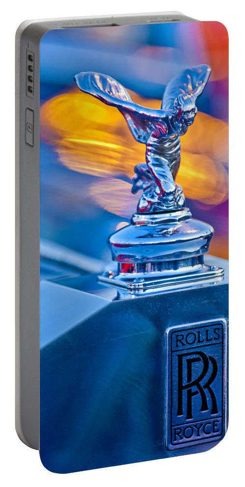 1952-1953 Rolls-royce Silver Wraith Portable Battery Charger featuring the photograph 1952 Rolls-royce Silver Wraith Hood Ornament by Jill Reger