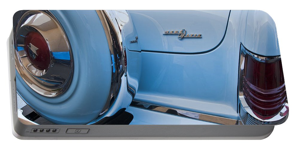 1954 Mercury Monterey Merc O Matic Portable Battery Charger featuring the photograph 1954 Mercury Monterey Merc O Matic Spare Tire by Jill Reger