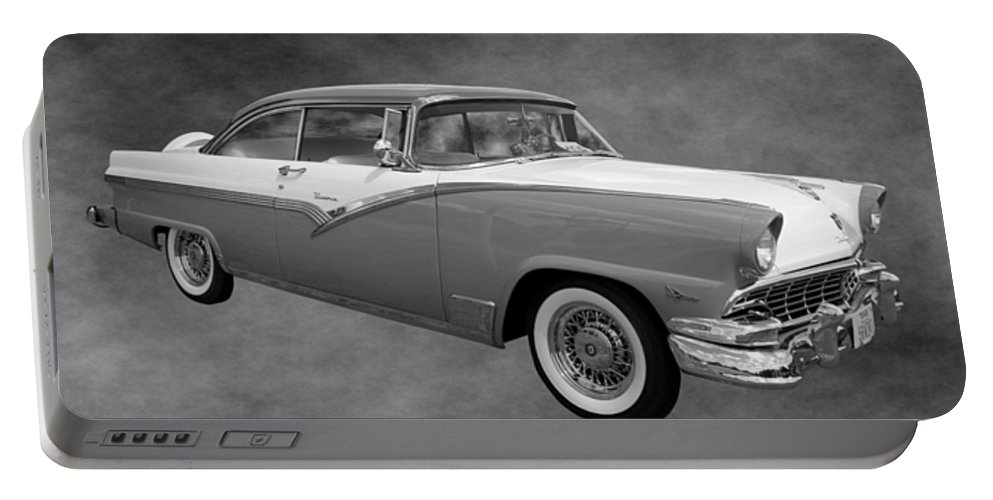 1956 Portable Battery Charger featuring the photograph 1956 Ford Fairlane Victoria by Betty Northcutt