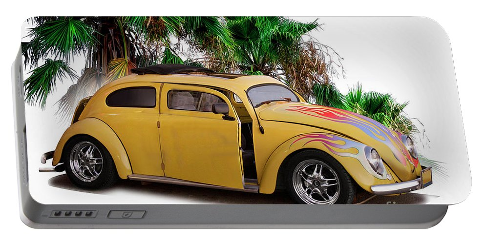 Auto Portable Battery Charger featuring the photograph 1956 Vw 'hot Rod' Bug I by Dave Koontz