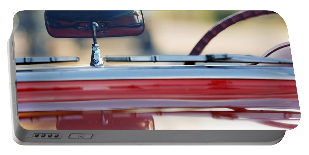 Classic Car Portable Battery Charger featuring the photograph 1957 Chevrolet Corvette Convertible by Jill Reger