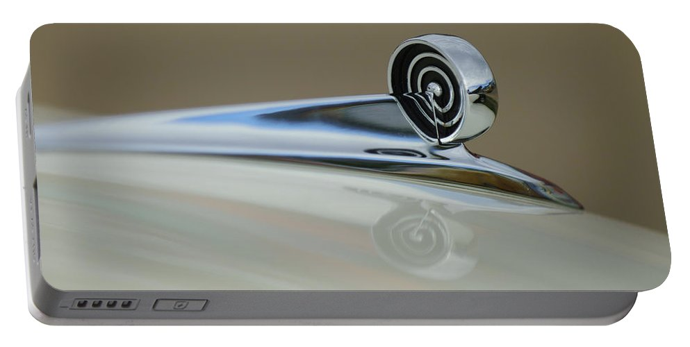 1957 Ford Portable Battery Charger featuring the photograph 1957 Ford Hood Ornament by Jill Reger