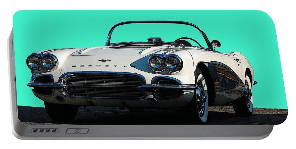 Corvette Portable Battery Charger featuring the photograph 1962 Corvette by Robert Meanor