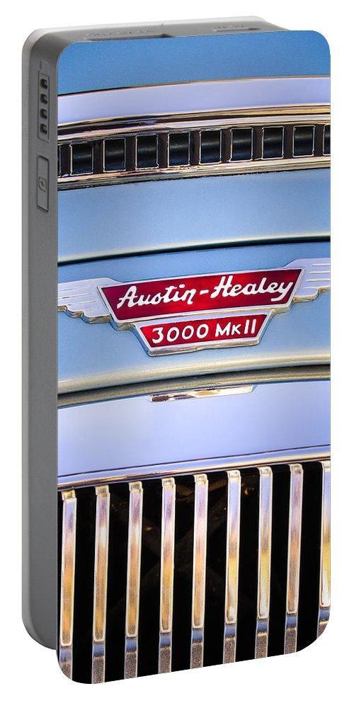 1963 Austin-healey Mark Iii Bj8 Portable Battery Charger featuring the photograph 1963 Austin-healey Mark IIi Bj8 by Jill Reger