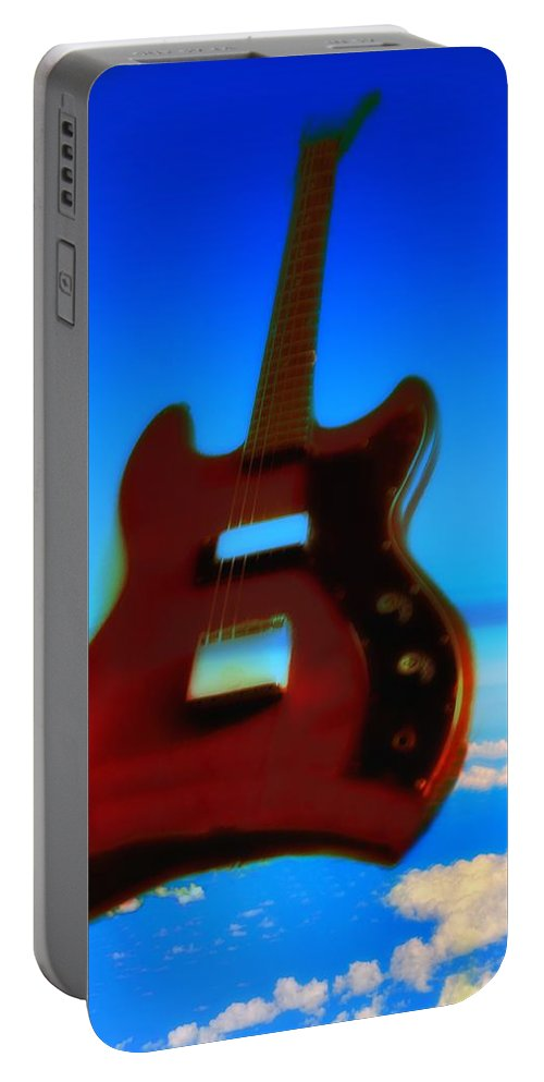 Guitar Portable Battery Charger featuring the photograph 1963 Guild Jet Star by Bill Cannon