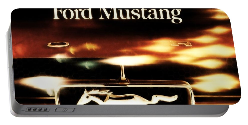 1964 Portable Battery Charger featuring the photograph 1964 Ford Mustang by R Muirhead Art