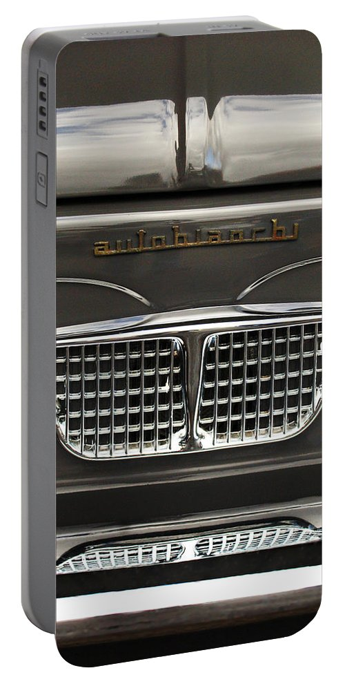 Car Portable Battery Charger featuring the photograph 1967 Autobianchini Special Italy Grille by Jill Reger