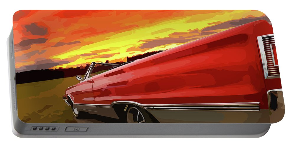 426 Portable Battery Charger featuring the photograph 1967 Plymouth Satellite Convertible by Gordon Dean II