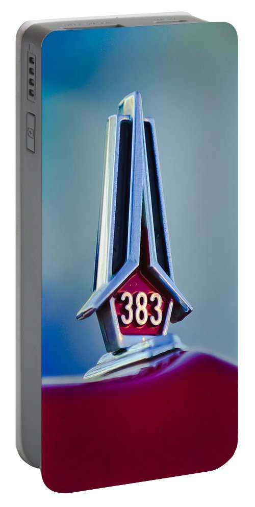 1967 Plymouth Saturn Portable Battery Charger featuring the photograph 1967 Plymouth Saturn Hood Ornament by Jill Reger