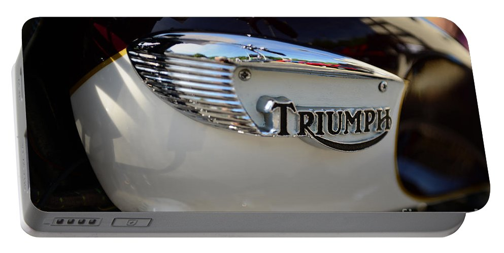1967 Triumph Gas Tank Portable Battery Charger featuring the photograph 1967 Triumph Gas Tank 2 by Paul Ward