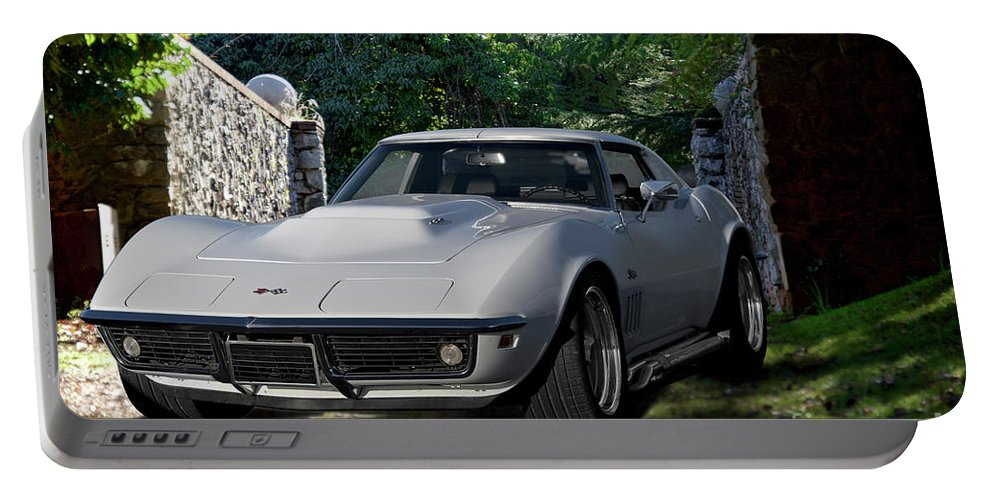 Auto Portable Battery Charger featuring the photograph 1969 Corvette Lt1 Coupe I by Dave Koontz