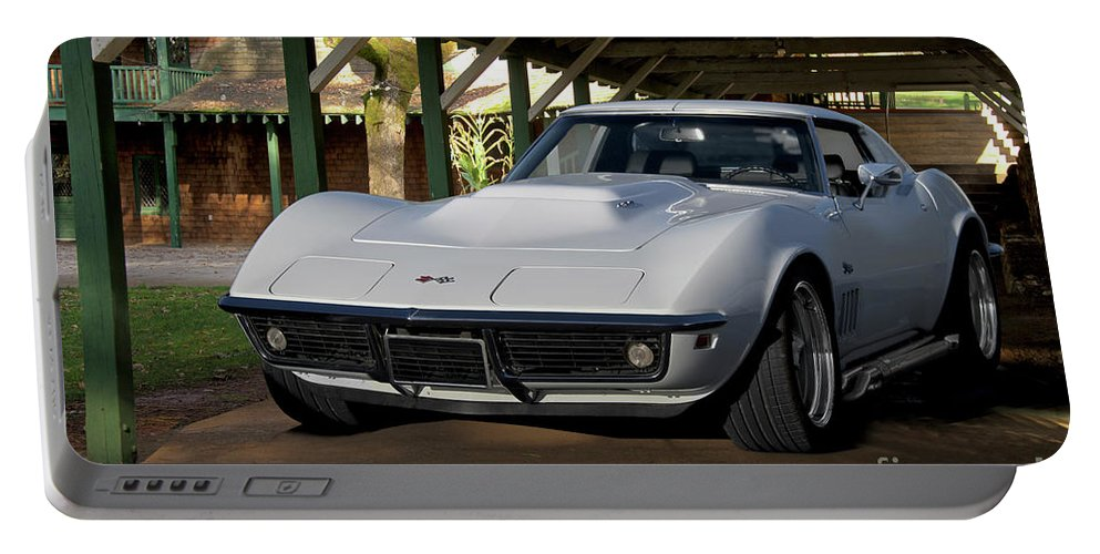Auto Portable Battery Charger featuring the photograph 1969 Corvette Lt1 Coupe II by Dave Koontz