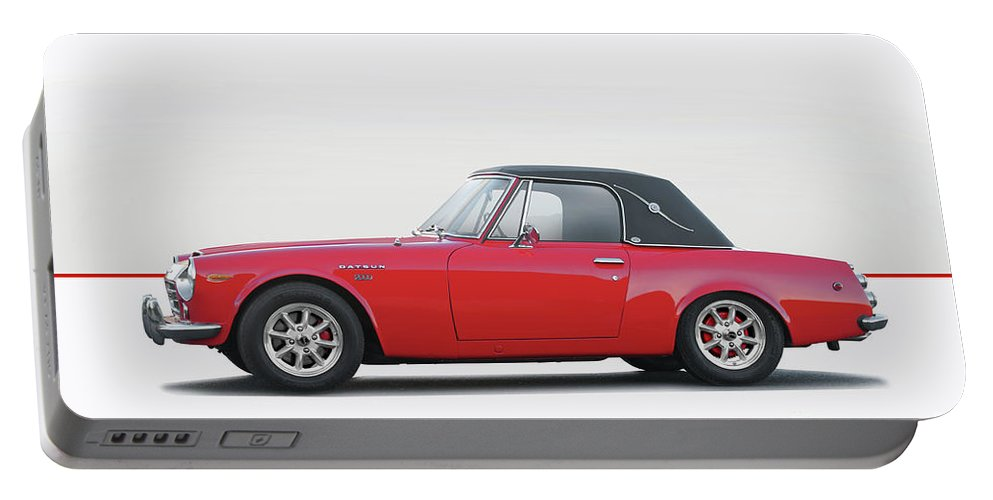 Auto Portable Battery Charger featuring the photograph 1969 Datsun 2000 Roadster I by Dave Koontz