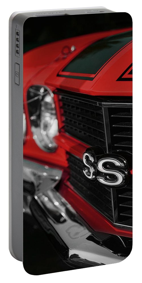1970 Chevelle Ss396 Ss 396 Red By Gordon Dean Ii: 1970 Chevelle Ss396 Ss 396 Red Portable Battery Charger