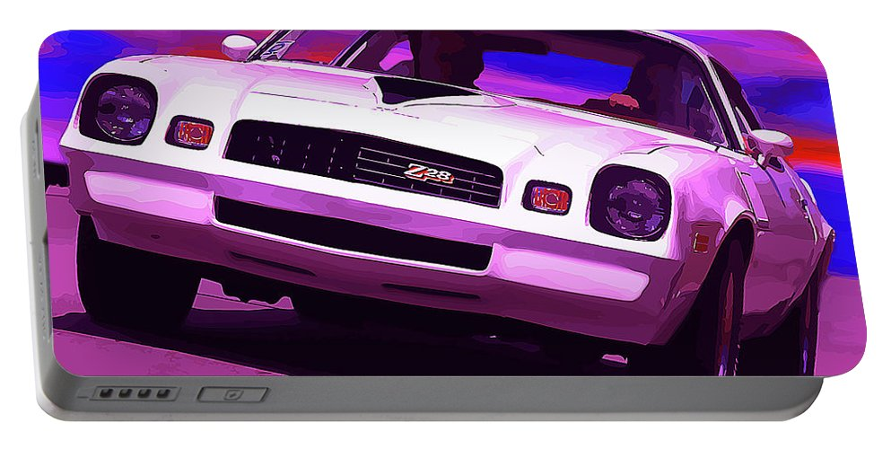 1977 Portable Battery Charger featuring the photograph 1978 Chevy Camaro Z28 by Gordon Dean II