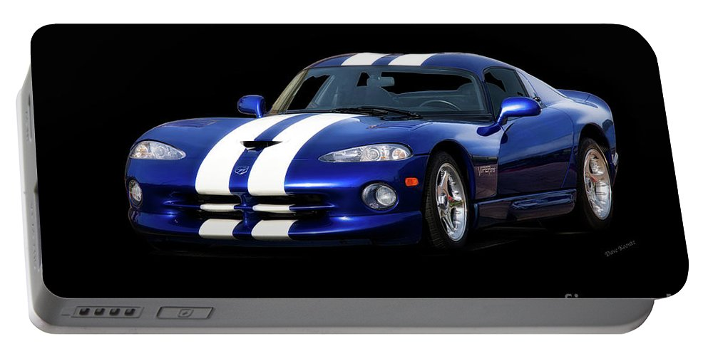 Auto Portable Battery Charger featuring the photograph 1995 Dodge Viper Coupe I by Dave Koontz