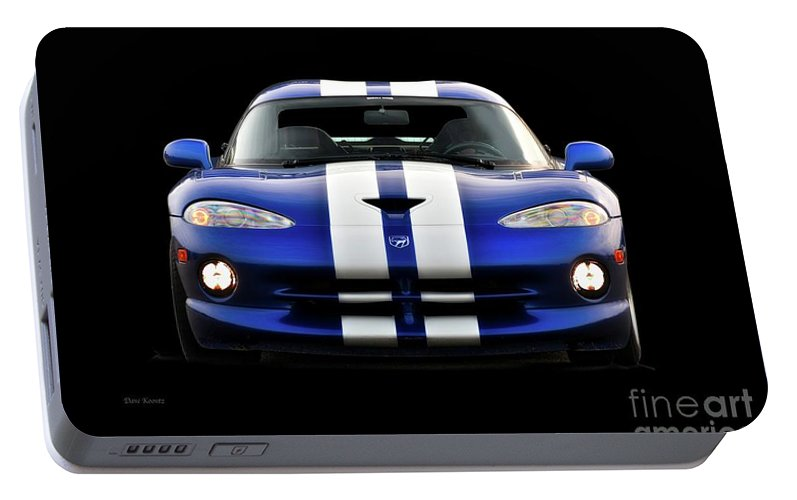 Auto Portable Battery Charger featuring the photograph 1995 Dodge Viper Coupe II by Dave Koontz