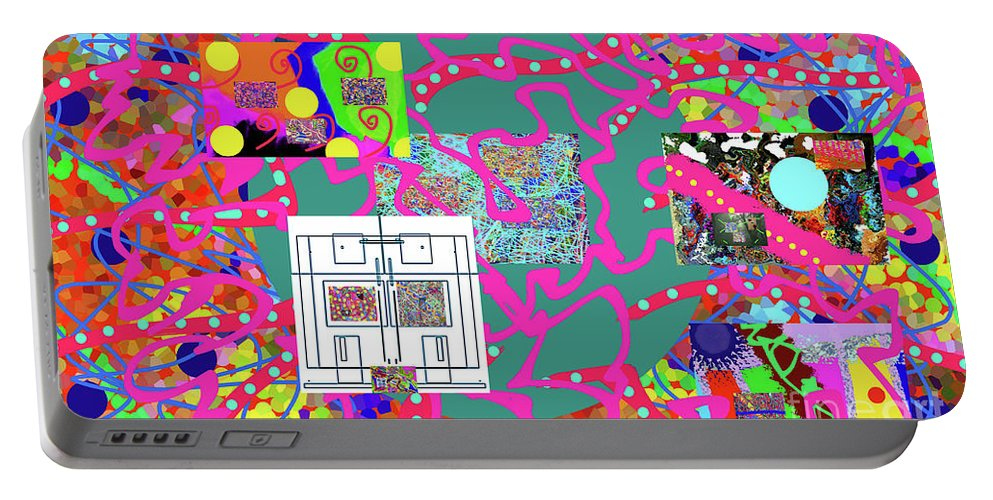 Walter Paul Bebirian Portable Battery Charger featuring the digital art 2-19-2057f by Walter Paul Bebirian