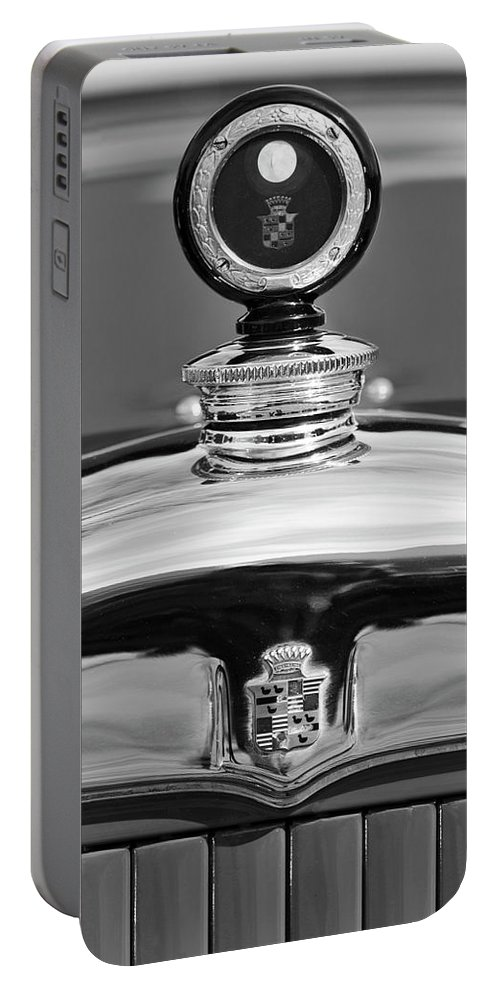 1926 Cadillac Series 314 Custom Portable Battery Charger featuring the photograph 1926 Cadillac Series 314 Custom Hood Ornament by Jill Reger