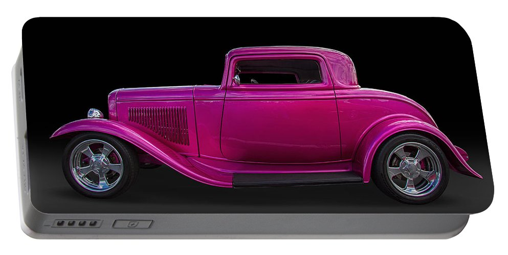 1932 Portable Battery Charger featuring the photograph 1932 Ford Hot Rod by Nick Gray
