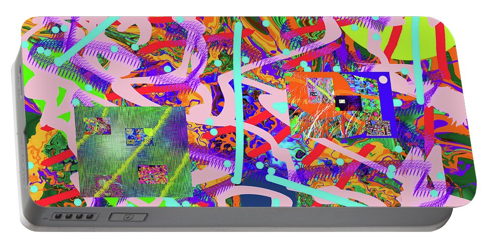 Walter Paul Bebirian Portable Battery Charger featuring the digital art 2-6-2015abcdefghijklmnopqrtuvwxyzabcdefg by Walter Paul Bebirian