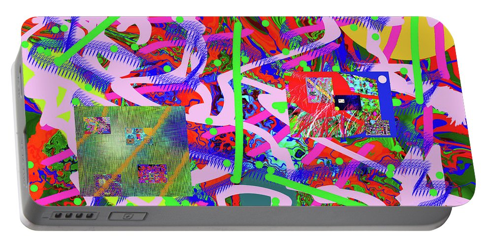 Walter Paul Bebirian Portable Battery Charger featuring the digital art 2-6-2015abcdefghijklmnopqrtuvwxyzabcdefghij by Walter Paul Bebirian