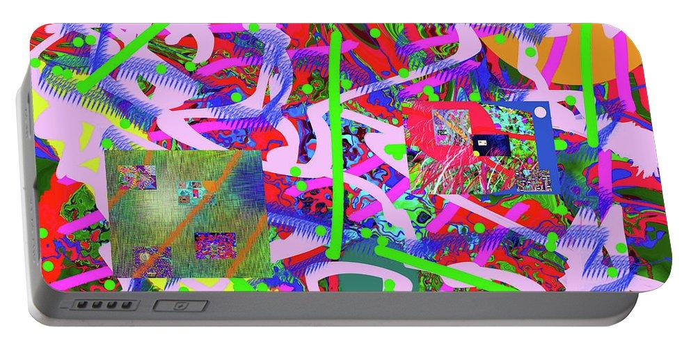 Walter Paul Bebirian Portable Battery Charger featuring the digital art 2-6-2015abcdefghijklmnopqrtuvwxyzabcdefghijk by Walter Paul Bebirian