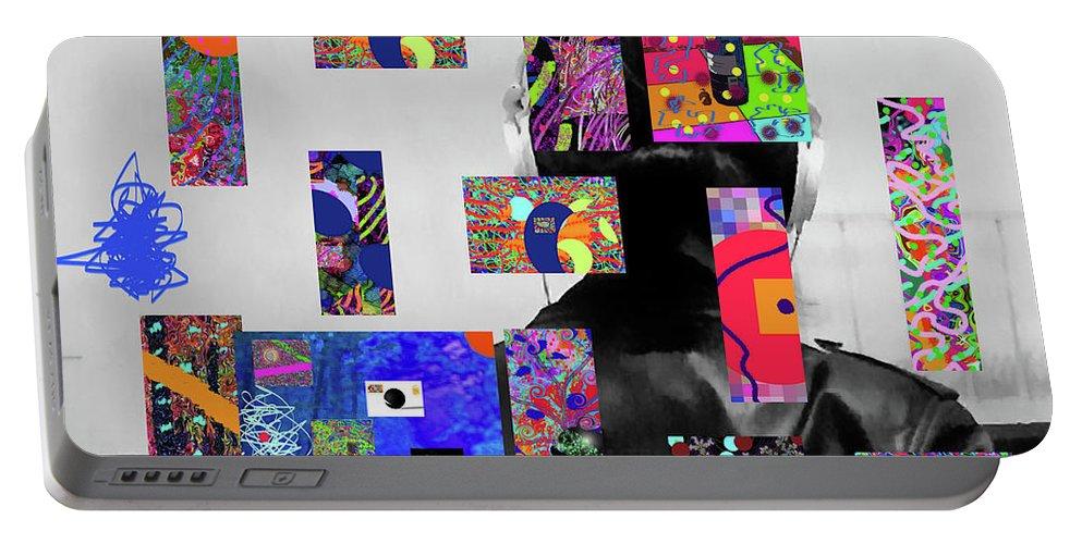 Walter Paul Bebirian Portable Battery Charger featuring the digital art 2-7-2015d by Walter Paul Bebirian