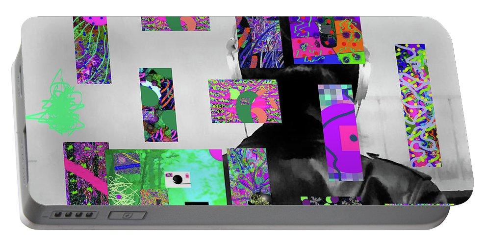 Walter Paul Bebirian Portable Battery Charger featuring the digital art 2-7-2015dabcdefg by Walter Paul Bebirian