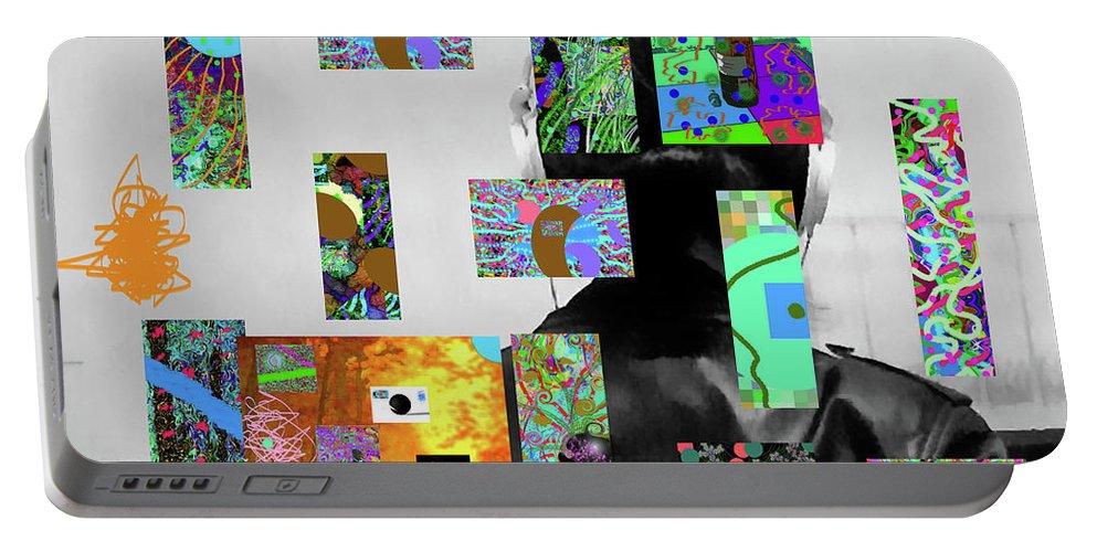 Walter Paul Bebirian Portable Battery Charger featuring the digital art 2-7-2015dabcdefghijklmnopqrt by Walter Paul Bebirian