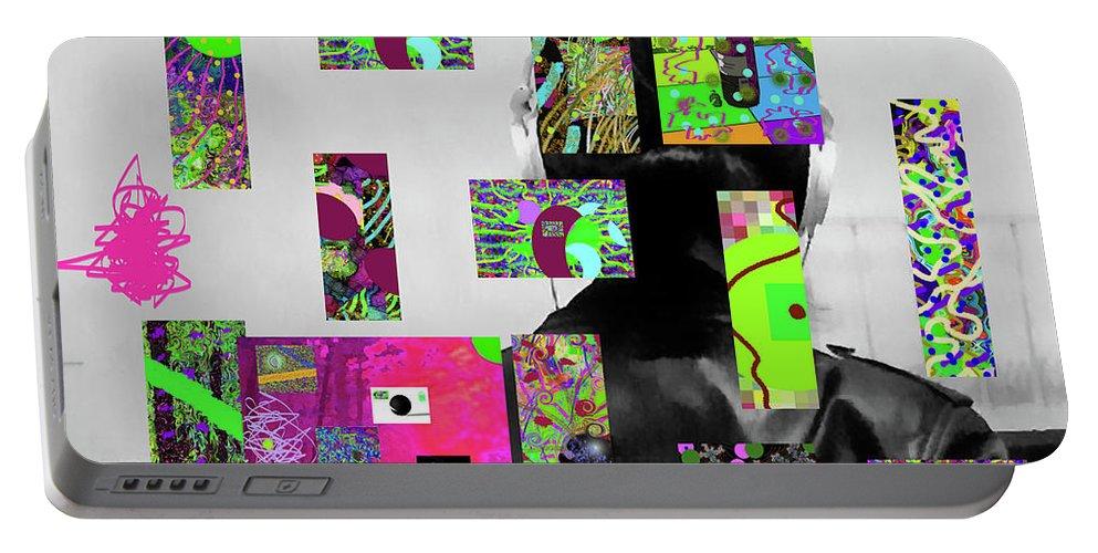 Walter Paul Bebirian Portable Battery Charger featuring the digital art 2-7-2015dabcdefghijklmnopqrtuvwxyza by Walter Paul Bebirian