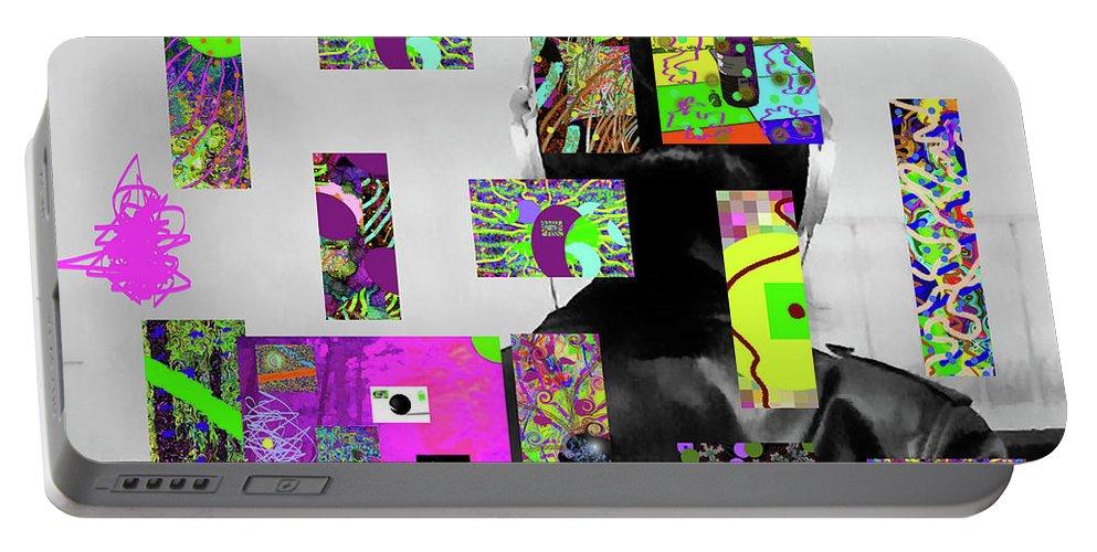 Walter Paul Bebirian Portable Battery Charger featuring the digital art 2-7-2015dabcdefghijklmnopqrtuvwxyzabc by Walter Paul Bebirian