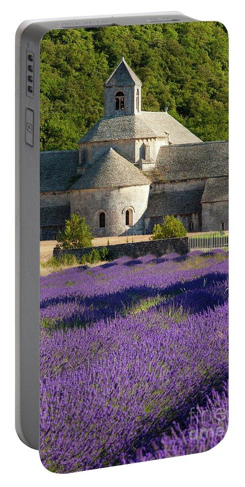 Abbaye De Senanque Portable Battery Charger featuring the photograph Abbaye De Senanque by Brian Jannsen