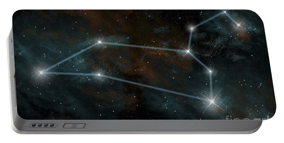 Algieba Portable Battery Charger featuring the digital art Artists Depiction Of The Constellation by Marc Ward