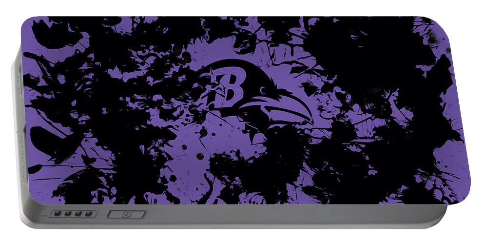Baltimore Ravens Portable Battery Charger featuring the mixed media Baltimore Ravens by Brian Reaves