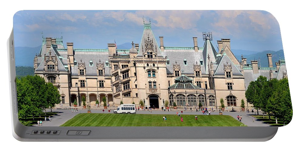Biltmore Portable Battery Charger featuring the photograph Biltmore House by Suranga Basnagala