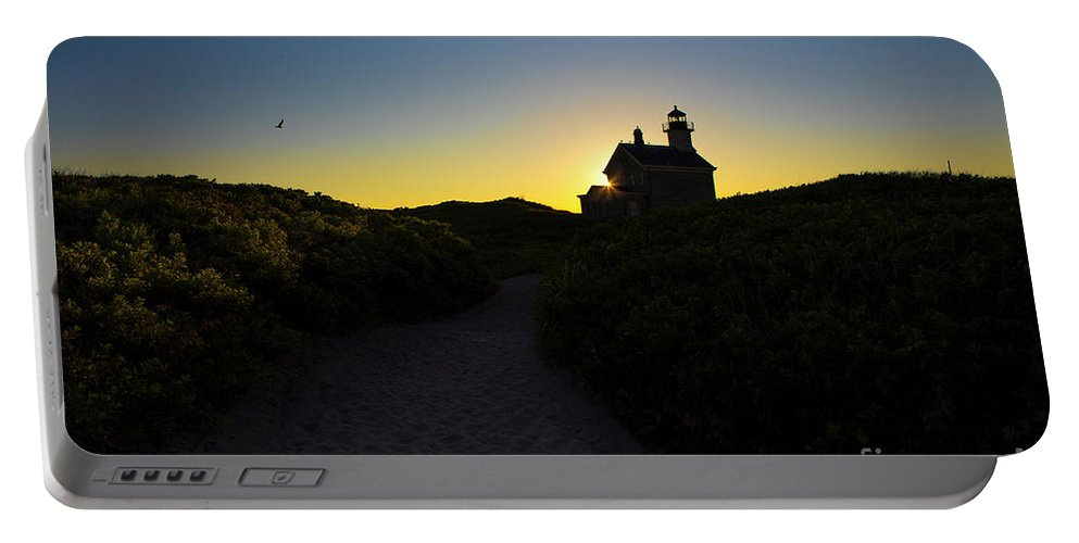 Lighthouse Portable Battery Charger featuring the photograph Block Island North Lighthouse by Diane Diederich