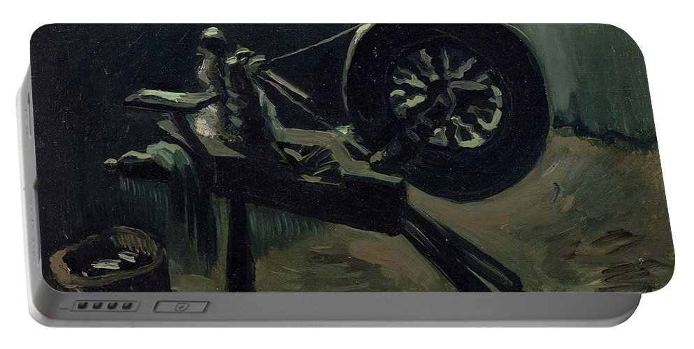 Vincent Van Gogh Portable Battery Charger featuring the painting Bobbin Winder by Vincent van Gogh